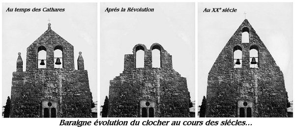 Evolution du clocher